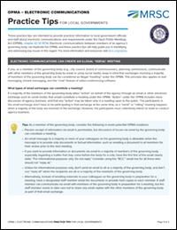 MRSC - Open Public Meetings Act