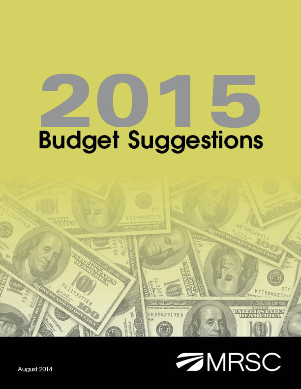 Cover of Budget Suggestions for 2015