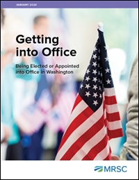 Cover of Getting into Office: Being Elected or Appointed into Office in Washington Counties, Cities, Towns, and Special Districts