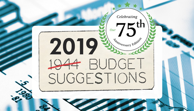 2019 Budget Suggestions is Here – 75th Anniversary Edition!