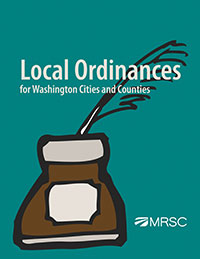 Cover of Local Ordinances for Washington Cities and Counties