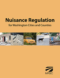 Cover of Nuisance Regulation for Washington Cities and Counties