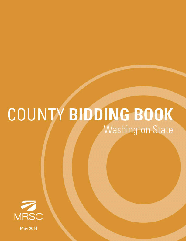 Cover of County Bidding Book - Washington State
