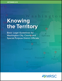 Cover of Knowing the Territory - Basic Legal Guidelines for Washington City, County and Special District Officials