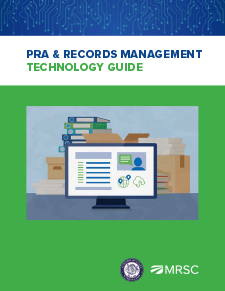 Cover of PRA and Records Management Technology Guide