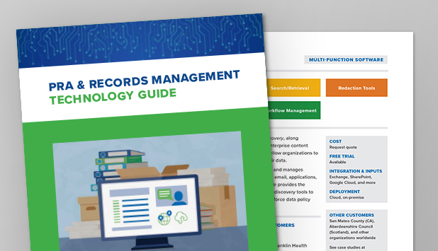 Introducing the PRA & Records Management Technology Guide!